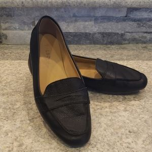 Talbots Black Leather Loafers size 7.5